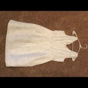 J.Crew white structured tank dress